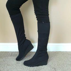 Donald J Pliner wedge sock boots